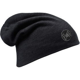 Buff Merino Wool Thermal Solid Black